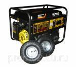 Бензогенератор Huter DY6500LX, с колесами и аккумулятором (5 кВт/ 230В)