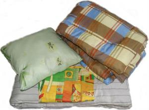 Постельный набор модель Эконом 1 ( матрас, подушка, одеяло и КПБ) постельные принадлежности для рабочих и строителей оптом по низким ценам