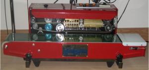 Запайщик пакетов SF-150 (DBF-900) конвейерного типа, С неповоротной запаечной поверхностью DBF-900W