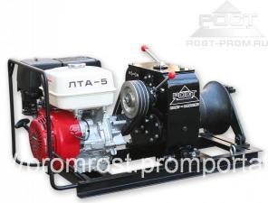 Лебёдка тяговая автономная ЛТА-5 (ДВС Хонда) (РОСТ)
