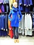 Пальто зимнее женское - воротник енот