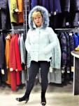Зимняя женская куртка, цвет белый