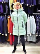 Зимняя женская куртка, цвет фисташковый