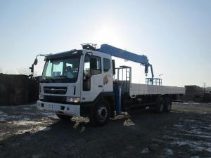 борт-кран Daewoo Ultra Novus 15,5 тонн, установка Soosan 746LII