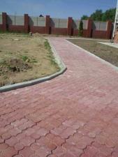"""Тротуарная плитка """"Рельефный клевер"""" (коричневый)"""