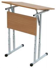 Стол для учебных заведений. Стол ученический. Стол ученический одноместный, регулируемый по высоте и углу наклона. Стол ученический с регулируемым углом наклона столешницы.