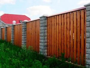 Деревянный забор Z-04