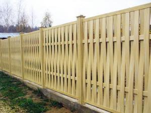 Деревянный забор Z-11