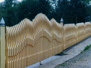 Деревянный забор Z-12