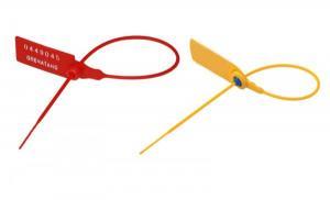 Пломба пластиковая номерная Фаст 220мм красная/желтая